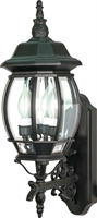 Picture for category Nuvo 60/890 Central park Outdoor Lighting Lamps 7in Textured Black 3-light