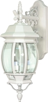Picture for category Nuvo 60/891 Central park Outdoor Lighting Lamps 7in White Clear Beveled panels