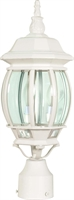 Picture for category Nuvo 60/897 Central park Outdoor Lighting Lamps 7in White Clear Beveled panels
