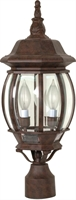 Picture for category Nuvo 60/898 Central park Outdoor Lighting Lamps 7in Old Bronze 3-light