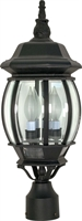Picture for category Nuvo 60/899 Central park Outdoor Lighting Lamps 7in Textured Black 3-light
