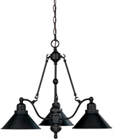 Picture for category Nuvo 60/1701 Bridgeview Chandeliers 27in Mission Dust Bronze 3-light