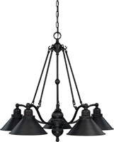 Picture for category Nuvo 60/1702 Bridgeview Chandeliers 30in Mission Dust Bronze 5-light