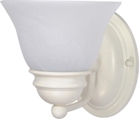 Picture for category Nuvo 60/352 Empire Wall Lantern 6in Textured White Alabaster 1-light
