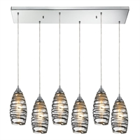Picture for category Elk 31338/6rc-vinw Twister Pendants 33in Polished Chrome 6-light