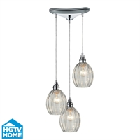 Picture for category Elk 46017/3 Danica Pendants 10in Polished Chrome 3-light