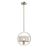 Picture for category Elk 31291/1 Corisande Pendants 12in Polished Nickel 1-light
