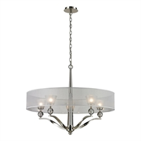 Picture for category Elk 31292/5 Corisande Chandeliers 30in Polished Nickel 5-light