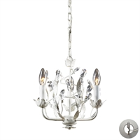 Picture for category Elk 18112/3-LA Circeo Chandeliers 11in Antique White 3-light