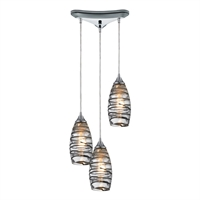 Picture for category Elk 31338/3vinw Twister Pendants 10in Polished Chrome 3-light