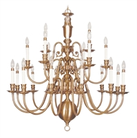 Picture for category Livex 5321-22 Beacon hill Chandeliers 42in Flemish Brass 21-light