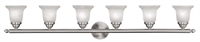 Picture for category Livex Lighting 1066-91 Bath Lighting 48in Brushed Nickel Steel 6-light