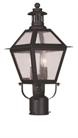 Picture for category Livex Lighting 2042-07 Outdoor Post Light 9in Bronze 2-light