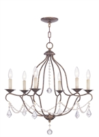 Picture for category Livex Lighting 6426-71 Chandeliers Chesterfield