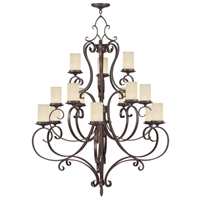 Picture for category Livex 5497-58 Millburn manor Chandeliers 42in Imperial Bronze 15-light