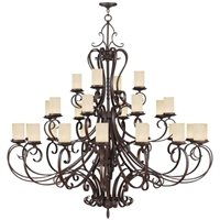 Picture for category Livex 5498-58 Millburn manor Chandeliers 63in Imperial Bronze 28-light