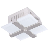Picture for category Livex 7083-91 Odyssey Ceiling Medallion Lighting 9in Brushed Nickel 1-light