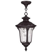 Picture for category Livex 7854-07 Oxford Outdoor Pendant 10in Bronze 1-light
