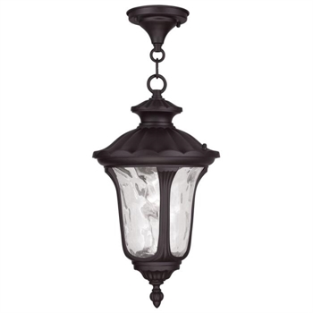 Picture of Livex Lighting 7854-07 Outdoor Pendant 10in Bronze Cast Aluminum 1-light