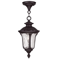 Picture for category Livex 7849-07 Oxford Outdoor Pendant 7in Bronze 1-light