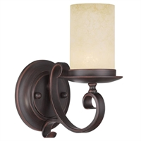 Picture for category Livex 5481-58 Millburn manor Wall Sconces 5in Imperial Bronze 1-light