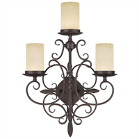 Picture for category Livex 5482-58 Millburn manor Wall Sconces 17in Imperial Bronze 3-light