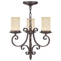 Picture for category Livex 5483-58 Millburn manor Mini Chandeliers 17in Imperial Bronze 3-light
