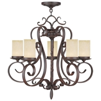 Picture for category Livex 5485-58 Millburn manor Chandeliers 26in Imperial Bronze 5-light