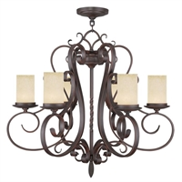 Picture for category Livex 5486-58 Millburn manor Chandeliers 30in Imperial Bronze 6-light