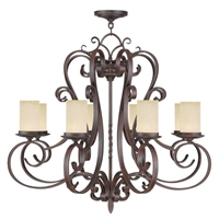 Picture for category Livex 5488-58 Millburn manor Chandeliers 36in Imperial Bronze 8-light