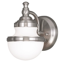 Picture for category Livex Lighting 5711-91 Bath Lighting 6in Brushed Nickel Steel 1-light