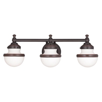 Picture for category Livex Lighting 5713-67 Bath Lighting 24in Olde Bronze Steel 3-light
