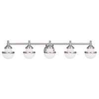 Picture for category Livex Lighting 5715-91 Bath Lighting 42in Brushed Nickel Steel 5-light