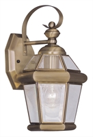 Picture for category Livex 2061-01 Georgetown Outdoor Wall Sconces 7in Antique Brass 1-light