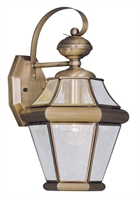 Picture for category Livex 2161-01 Georgetown Outdoor Wall Sconces 8in Antique Brass 1-light