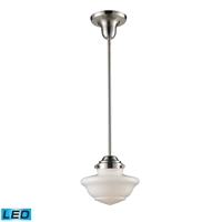Picture for category Pendants 1 Light LED With Satin Nickel Finish 8 inch 13.5 Watts - World of Lamp