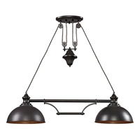 Picture for category Elk 65150-2 Farmhouse Island Lighting 44in Oiled Bronze 2-light