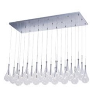 Picture for category ET2 E20518-18PC Larmes led Pendants 18in
