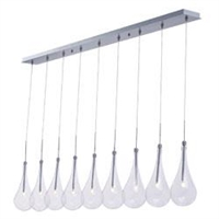 Picture for category ET2 E23129-18PC Larmes led Pendants 5in