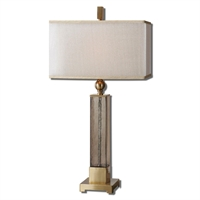Picture for category Uttermost 26583-1 Caecilia Table Lamps 17in METAL FABRIC GLASS 1-light
