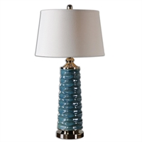 Picture for category Uttermost 26567 Delavan Table Lamps 17in CERAMIC METAL FABRIC 1-light