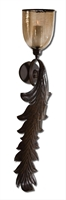 Picture for category Uttermost 19732 Tinella Wall Sconces 10in Iron & Glass