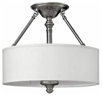 Picture for category Hinkley 4791BN Sussex Chandeliers 16in Brushed Nickel Metal 3-light