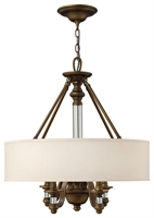 Picture for category Hinkley 4797EZ Sussex Chandeliers 23in English Bronze Metal 4-light