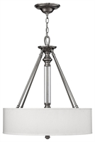 Picture for category Hinkley 4794BN Sussex Chandeliers 22in Brushed Nickel Metal 3-light