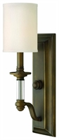 Picture for category Hinkley 4790EZ Sussex Wall Sconces 5in English Bronze Metal 1-light