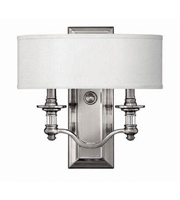 Picture for category Hinkley 4900BN Sussex Wall Sconces 14in Brushed Nickel Metal 2-light