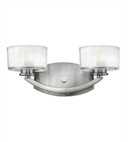 Picture for category Hinkley 5592BN Meridian Bath Lighting 14in Brushed Nickel Metal 2-light