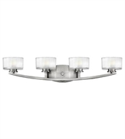 Picture for category Hinkley 5594BN Meridian Bath Lighting 29in Brushed Nickel Metal 4-light
