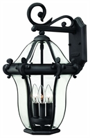 Picture for category Hinkley 2444MB San Clemente Outdoor Lighting Lamps 12in Museum Black 3-light